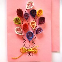 Handmade Quilled Greeting Card, Birthday Card, Gift Card