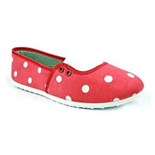 Globalite Women Casual Shoes Milli Red White Dot