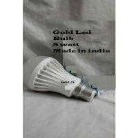 Gold Led Bulb 7 Watts Made In India ( Set Of 3)