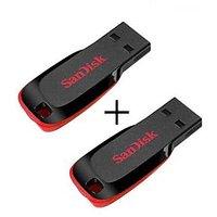 SanDisk Cruzer Blade USB Flash Drive 8GB (Combo Of 2)