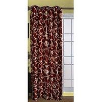 Blossom Rust Floral Vine Design Door Curtain