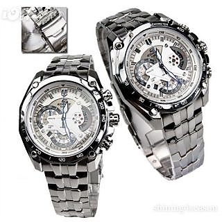 CASIO EDIFICE EF 550D 7AVDF WHITE DIAL CHRONOGRAPH SMART MENS WRIST WATCH GIFT