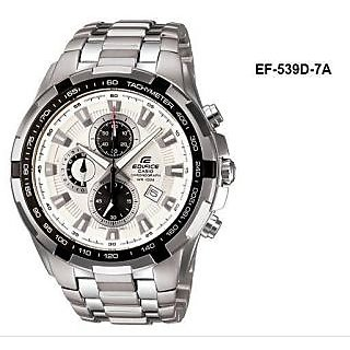 CASIO EDIFICE EF 539D-7AVD WHITE DIAL CHRONOGRAPH STYLE MENS WRIST WATCH GIFT