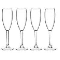 Champagne Flutes - Champagne Flute Set - Polycarbonate - 4 Pcs