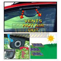 Auto Cool Ventilation Car Fan Solar Powered Exhaust System