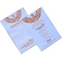 Invitation Card-v6019 - With Envelope (Pack Of 100 Cards)