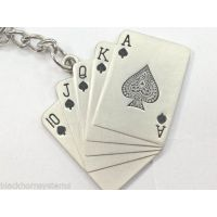 PLAYING CARDS Key Chain Metallic Keychain Car And Bike, Key Ring Keyring