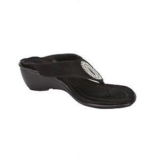 Awssm Fashion Mid Wedge Slipper 5514_Awssm_Black