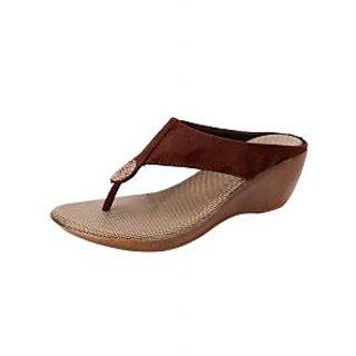 Awssm Fashion Mid Wedge Slipper 6286P_Awssm_Bronze