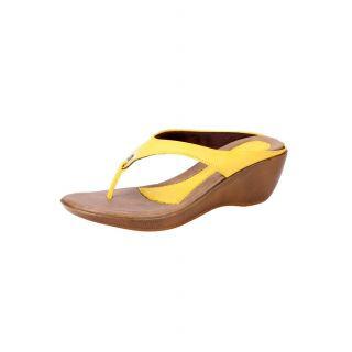 Awssm Fashion Mid Wedge Slipper 6691_Awssm_Yellow