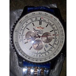 Breitling Navitimer Dial Red Leather Swiss Mens Watch FERR Ck Watches