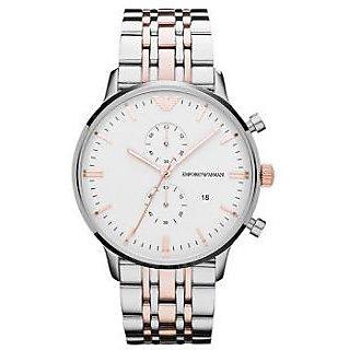 Emporio Armani AR-1648, Dark White Dial Chronograph Watch For Men [CLONE]