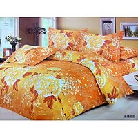 PolyCotton Double BED COVER< BED SHEET With Two Pillow Covers>Perfect Gift Item