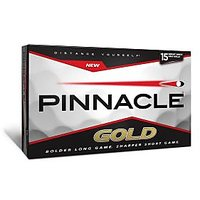 Pinnacle Gold Golf Balls(Pack Of 15 Balls)