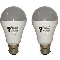 Whizlight 7-Watt LED Bulb (Cool Day Light) Base B22d Pack Of 2