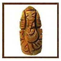 Carved Haldi Ganesh / Haridhra Vinayaka / Turmeric Ganapathi -H