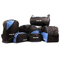 Urban-style-Blue-and-black-set-of-6-utility-bags.
