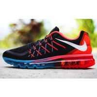 Nike Air Max 2015 Running Sports Shoes - Black/Red/Blue