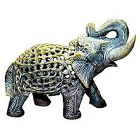 SuGaAS Marble Stone Handcrafted Elephant With Baby Inside Baby