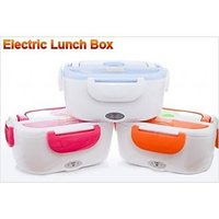 Portable Electric Heatable Lunch Box Tiffin Office Use Mix Color