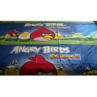 Angry Bird Print Double Bedsheet With Pillow Covers 100% Cotton