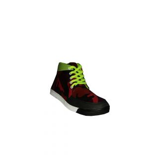 Nems-2 Army Printed Red And Black Casual Shoes
