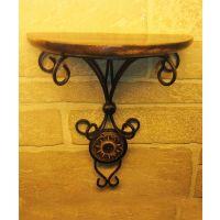 Onlineshoppee Beautiful Wood & Wrought Iron Fancy Wall Bracket