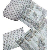 Bajya Jaipuri Double Bed Hand Block Print Cotton Razai