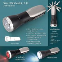 G12 - Mini Emergency Trekking Toolkit (10 Function With 5 Mode Torch & 2 Mode Fl