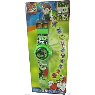 Ben 10 Digital Wrist Watch For Kids With 10 Different Projector Images