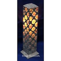 Candle Stand Table Lamp In Marble