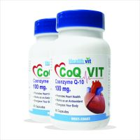 Healthvit Co-Qvit CO-Q 10 Enzyme 100 Mg 60 Capsules Pack Of 2