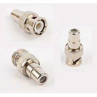10 PACK Lot - BNC Male Plug To RCA Female Jack Adapter Connector Coupler 10X