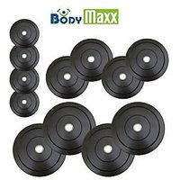 Body Maxx 45 Kg Rubber Weight Plates Home Gym Weight Lifting Home Gym Pack