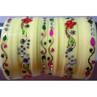 Hand Painted New Year Special Bangles Set Of 18 Pcs