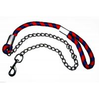 High Quality Durable Chain Dog Leash With Stylish Rope Handle For Large Dogs