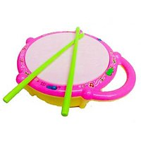 Musical Drum With Colorful Led Lights And Drum Sticks For Kids Children
