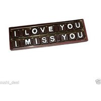I Love You I Miss You Chocolate Gift Home Made Chocolate Lover Gift