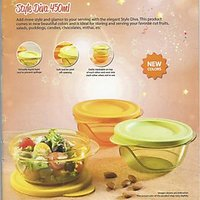 Tupperware Style Diva Colourful Bowls - 450 ML(Set Of 3)