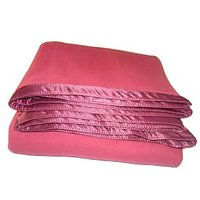 Satcap Royal Anti Pill Plain Blanket With Satin Border Light Pink Single