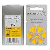 Power One Hearing Aid Batteries Size 10 - 60pcs (10 Blisters)