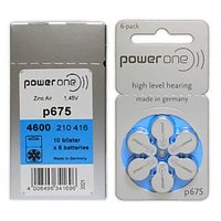 Power One Hearing Aid Batteries Size 675 - 60pcs (10 Blisters)