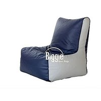 Cozy Bags Bean Chair XL Size Grey Indigo Without Beans