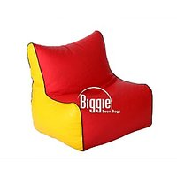 Cozy Bags Bean Chair XL Size Red Yellow Without Beans