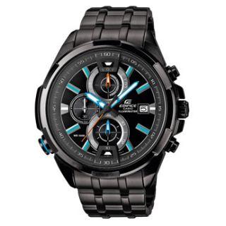 Casio Edifice Chronograph Black Dial Men's Watch - EFR-536D