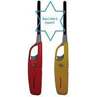 Utility Flame Gas Lighter,With Flame & Refillable Buy 1 Get 1 Free