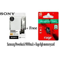 Sony OEM CP-F10L 10000mAh USB Power Bank Pack WITH FREE 8 GB RAGE MEMORY CARD  6 CLASS