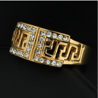 Jewelry Wedding Rings For Men Exquisite Gold Plated Men'S Ring