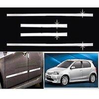 Car Steel Chrome Side Beading For Toyota Etios Liva