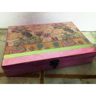 Blue Floral Jewelry Box